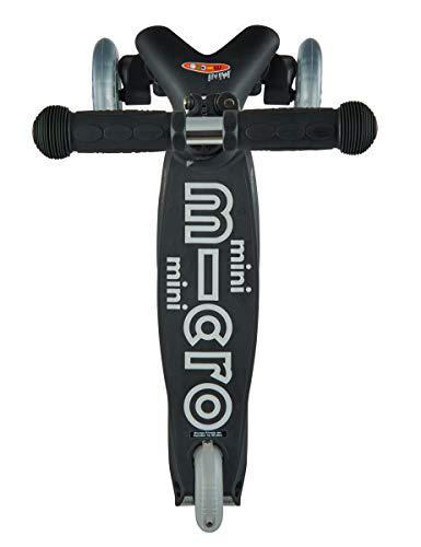 MICRO Mini Deluxe Skateboard, Jugend Unisex, Schwarz/Grau, Einheitsgröße