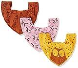 Pippi Baby-Mädchen 3er Pack Lätzchen Dreieckstücher Halstuch, Gelb (Mineral Yellow 372), (Herstellergröße:One Size)