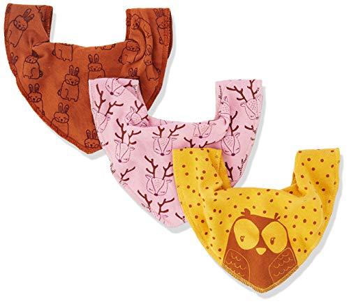 Pippi Baby-Mädchen 3er Pack Lätzchen Dreieckstücher Halstuch, Gelb (Mineral Yellow 372), (Herstellergröße:One...