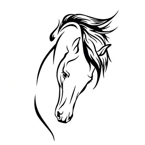 ZHYCT Tier Pferd Kopf lustige Auto Aufkleber Art Decor Aufkleber, Vinyl Autoaufkleber mit wasserdicht und reflektierend für Laptop, Autofenster, Van, Motorrad