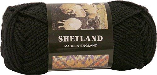 秋冬毛糸 SHETLAND シェットランド 32 黒 番色 Puppy パピー