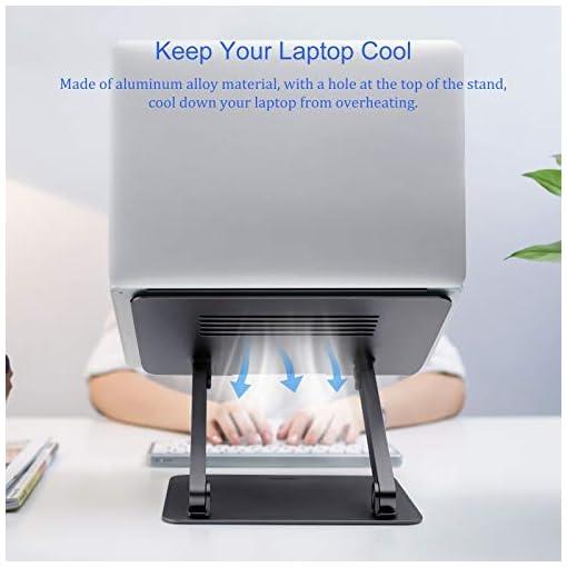 NILLKIN Soporte portátil, Ajustable Laptop Stand Aluminio Soporte ventilado para portátil para MacBook, Surface y Otras… 4