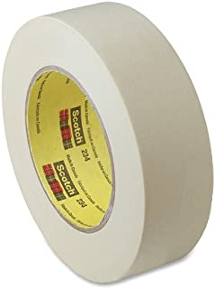 3M Scotch 234 Crepe Paper General Purpose Masking Tape, 250 Degree F Performance Temperature, 27 lbs/in Tensile Strength, 60 yds Length x 1-1/2
