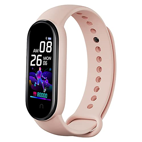 Smartwatch, 0,96 pulgadas IPS Color Smart Watch pulsera Rate Monitor - Bluetooth LE 4.0, pulsera de fitness impermeable IOS Android Sports Hombre Mujer Fitness (Rosa)
