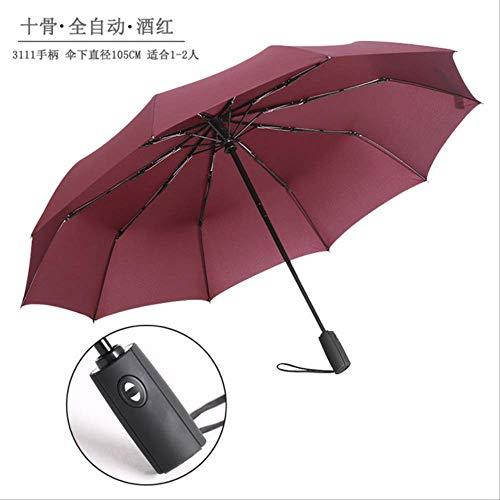 YSZYSA 50 stücke 10 Karat Automatische Regenschirm DREI Taschenschirm Männer und Frauen Business Regenschirm Großhandel Werbung Regenschirm Benutzerdefinierte Logo3111