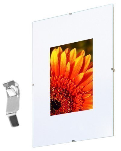 Fotolijst Randloos 60x80 cm, plexiglas dubbelpak, frameloos fotohouder kunststof glas