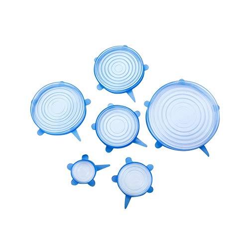aoory Lot de 6 couvercles Extensibles en Silicone réutilisables pour Four à Micro-Ondes, réfrigérateur