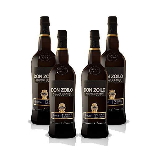 Vino Oloroso Don Zoilo de 75 cl - D.O. Jerez-Sherry - Bodegas Williams & Humbert (Pack de 4 botellas)