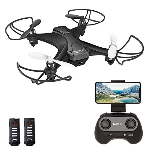 tech rc Mini Drone with Camera FPV Live Video Wifi Quadcopter, Easy Control with Headless Mode, Altitude Hold, Long Flight Time with 2 Batteries, App Control Available Toy Drone for Kids and Beginners