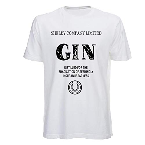 T Shirt Peaky Blinders Gin, Shelby Company Limited, Tommy Shelby, Serien, Herren - XS