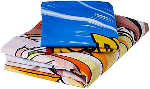 Dragon Ball Z - Set copripiumino singolo, in policotone, multicolore