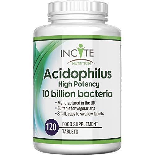 Acidophilus 10 Billion cfu Food Supplement - 120 Easy Swallow 6mm Tablets