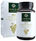 Green Nugget® OPC - Bestnote im Test 2019* - Feinstes Traubenkernextrakt (71% OPC) aus der Champagne - Tagesdosis in 1 Kapsel - Extraktion ohne Alkohol - Vegan - 2Monatsvorrat - Made in Germany