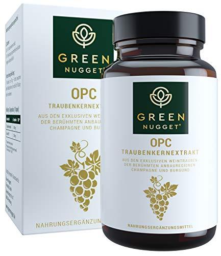 Green Nugget® OPC - Bestnote im Test 2019* - Feinstes Traubenkernextrakt (71% OPC) aus der Champagne - Tagesdosis in 1 Kapsel - Extraktion ohne Alkohol - Vegan - 2Monatsvorrat - Made in Germany