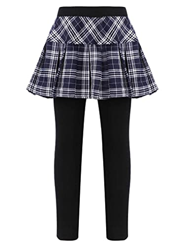 Freebily Leggins para Niña Impresión Leggings Elástico con Falda Estampada Pantalones Largos Jeggings Leggins Deportivas ZAzul 11-12 años