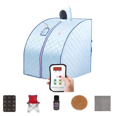 Infrarot Sauna Tragbare Heizung,  Falten Bequem Zu Tragen Waschbarer Mantel Mit Mütze Intelligente Fernbedienung Nanotechnologie Physiotherapie-Fußpolster Heizplatte, 4 Farben FENGSR