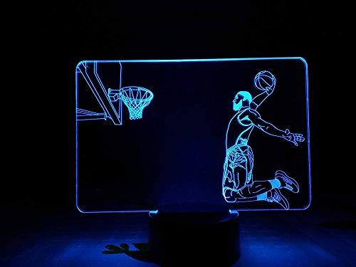 3D illusion nachtlampje bureaulamp slaapkamer touch sensor rbg decoratief licht sport kinderen geschenk basketbal LED nachtlampje slam donker nieuw cadeau