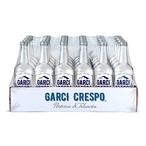 Garci Crespo Reserva de Tehuacán, Agua Mineral en Botellas de Vidrio, Contenido 1 Paquete con 24 Botellas de Vidrio de 275 Mililitros...