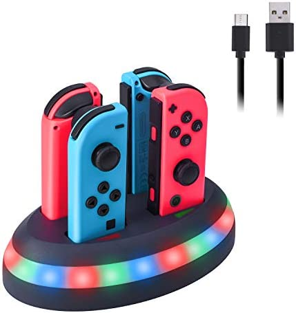 Charger for Nintendo Switch 4 Joy Cons Controllers Charging Dock for Joy Con Switch with LED product image