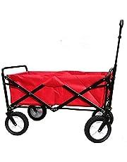 عربة تسوق وتخييم متعددة الاستخدامات بتصميم قابل للطي - احمر، R-2022