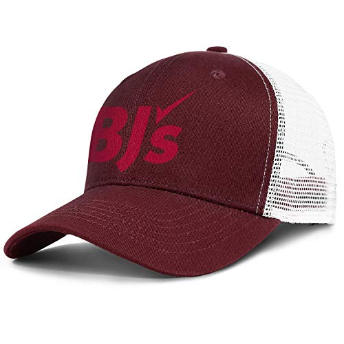 Unisex Men's Baseball Hat Classic Adjustable Mesh Visor BJ's-Wholesale-Club-Logo-Flat Cap
