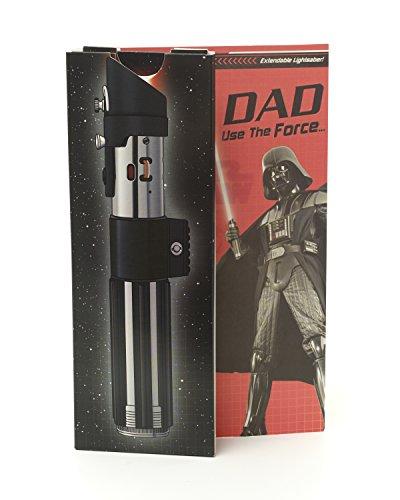 Tarjeta de cumpleaños para papá, tarjeta de cumpleaños desplegable de Star Wars, luces de sable de luz y tarjeta de sonido 3D, tarjeta de regalo ideal para él – Star Wars