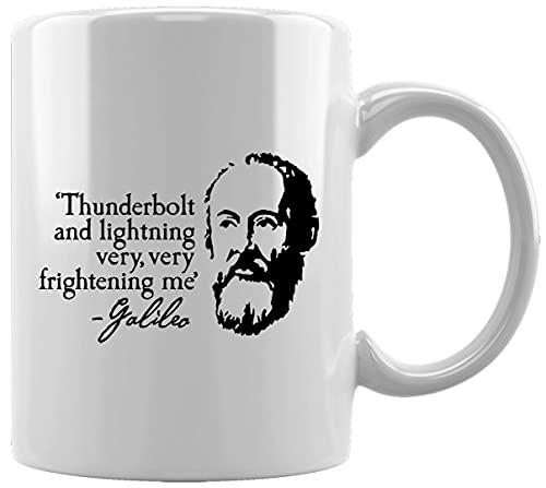 Galileo Thunderbolt Quote Taza Blanca De Cerámica Hogar De Oficina De La Taza Del Agua Té Café White Ceramic Mug