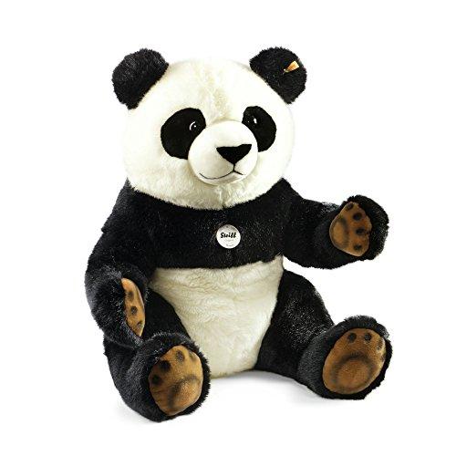 Steiff Pummy Panda - 45 cm - Kuscheltier für Kinder - Plüschpanda - weich & waschbar - schwarz/weiß - (075780)