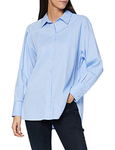 OPUS Damen Ferro 2-Tone Bluse, Blue Mood, 40