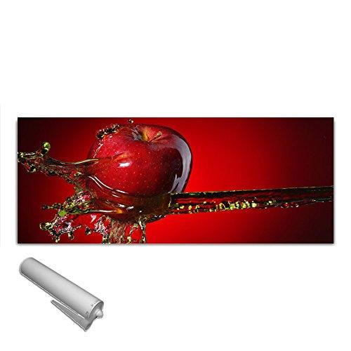 DekoGlas Küchenrückwand Glas \'Apfel Wasser\' Herdblende aus Sicherheitsglas (ESG) 125x50 cm Spritzschutz Fliesenspiegel