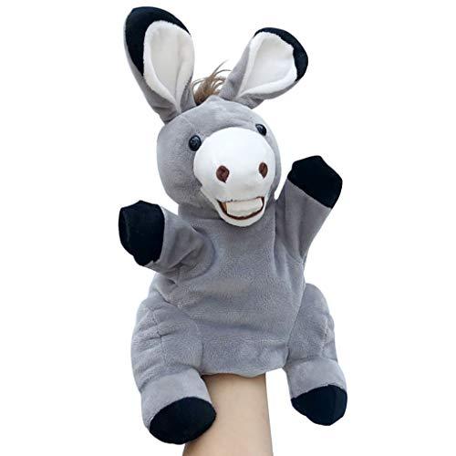 Marionetas animales Marioneta de mano animal juguetes de peluche suave para niños - Cuentacuentos, enseñanza, juegos de rol, juegos interactivos, títeres de guante, regalos de cumpleaños y Navidad (bu