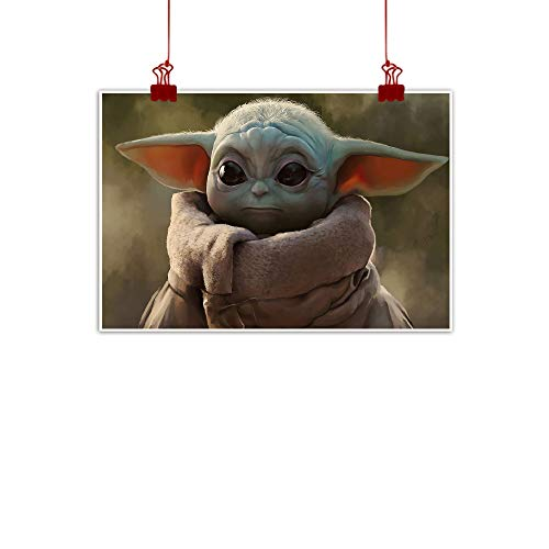 VICWOWONE Póster de Star Wars Baby Yo-da As a Gift For Boys sin marco de 60,96 x 40,64 cm