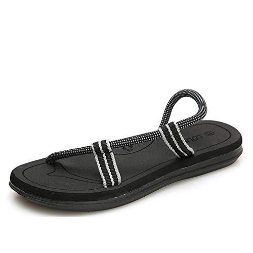 Hombres Zapatos de Playa Romano de Verano Chancletas Slip en Clip Toe Flats Casual al Aire Libre de la Correa del Poste Tangas Sandalias de Gladiador