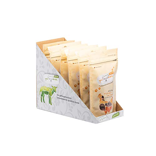 Yummeez Pure Hühnerherzen, gefriergetrockneter Hundesnack/Hundeleckerli, 6er Pack (6 x 35 g)