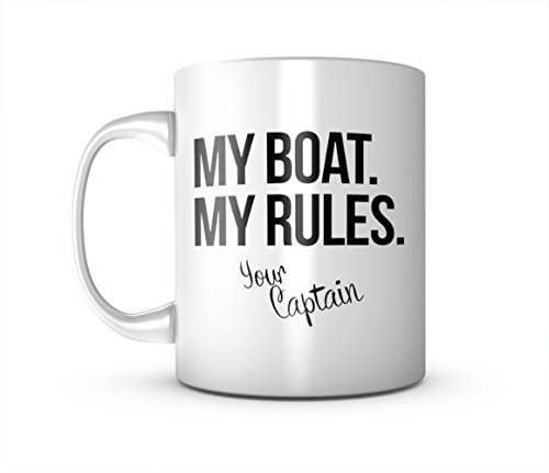 My Boat My Rules The Captain Sea Boss Komisch Keramik Tasse Kaffee Tee Becher Mug