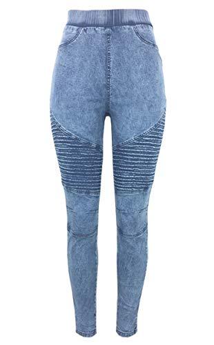 Fantastic Deal! Andongnywell Women Skinny Pants Slim Fit Elastic Waist Jeggings High Waist Trousers ...
