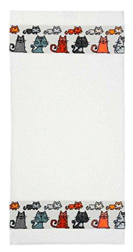 Feiler mietze00010504 Handtuch Mieze Größe 50 x 100 cm, weiß
