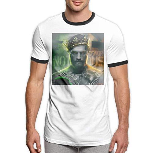 HuXiHuXiHu Camisetas y Tops Hombre Polos y Camisas, Sports Men's T-Shirt Conor Mcgregor. Round Neck Short Sleeve T Shirt