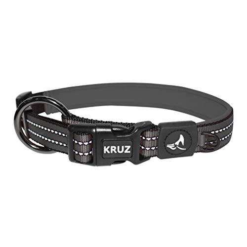 KRUZ PET KZV006-05S Reflective Dog Collar for...