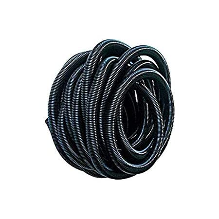 2 Metre Black Corrugated Flexible Hose for Pond Pumps,Filters and Drainage Skystuff Water Butt Connector Pipe 1.25 //32mm Flexible Hose with 2Pcs 36-40mm Double Wire Hose Clips