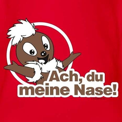 Spreadshirt Sandm/ännchen Pittiplatsch ACH Du Meine Nase Baby Bio-Kurzarm-Body