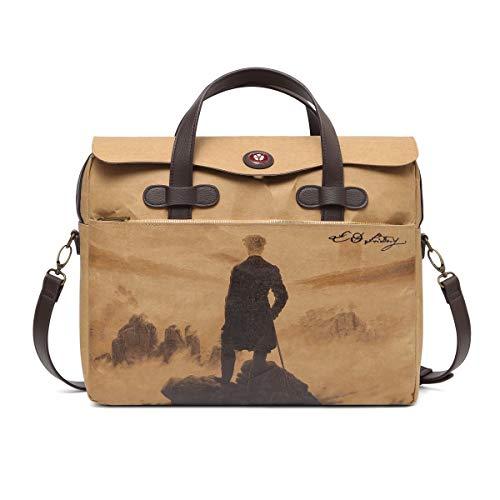 BOTONE Messenger Bag, Umhängetasche Mercurius Artist Edition 'C. D. Friedrich'-wie EIN Kunstdruck: Limitiert auf 1000 Stück und indiv. num. für Liebhaber von Kunst,Maße(BxHxT):40x32x11cm