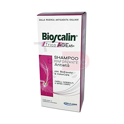 Bioscalin TricoAge 45+ Shampoo Rinforzante da 200ml - Anticaduta e Antietà