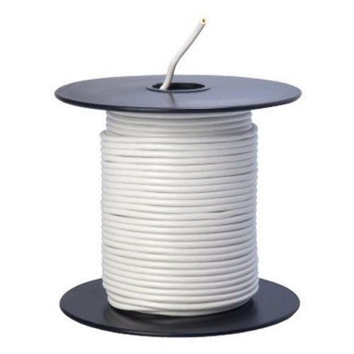 Southwire 55667223 Primary Wire, 18-Gauge Bulk Spool, 100-Feet, White