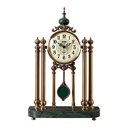 YSMLL Estilo retro sala de estar reloj americano casa oficina escritorio reloj reloj reloj de reloj creativo decoraciones de dormitorio