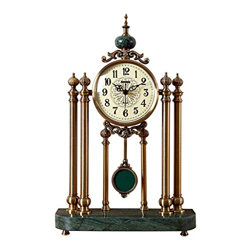 GZQDX Estilo Retro Sala de Estar Reloj Americano casa Oficina Escritorio Reloj Reloj Reloj de Reloj Creativo Decoraciones de Dormitorio