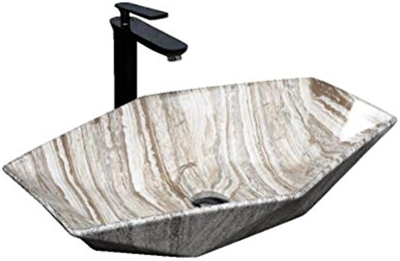 HaoLiao Bad Waschbecken,Waschbecken,Im europischen Stil Waschbecken Aufsatzbecken, Hotel Home Art Basin, groes Waschbecken (63x42x11cm)