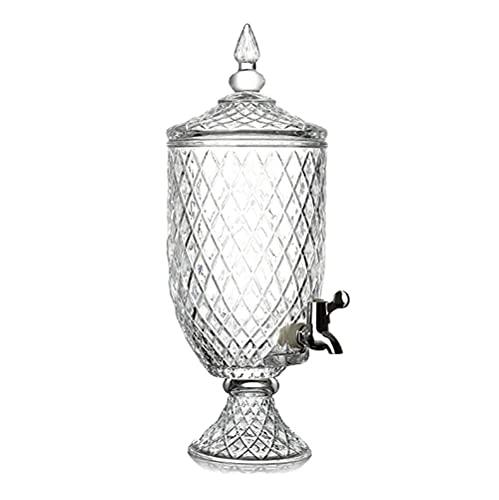 Barm Dispensador de Bebidas de Vidrio con Grifo sin Fugas, cristalería, 1.8L / 4.5L, Agua, Jugo, Cerveza, Vino, Vino Blanco: la Mejor Bebida fría (tamaño: 4.5L)