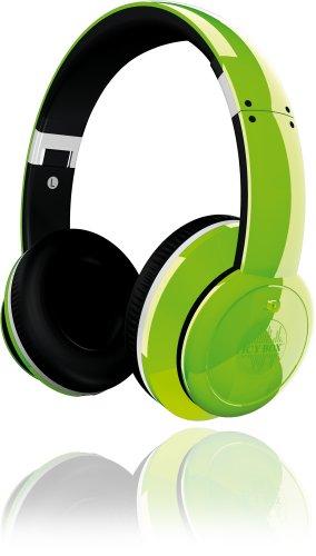 Icy Box BigCity Vibes IB-HPh2-Gr On-Ear Kopfhörer mit Active Noise-Cancelling, zusammenklappbar, gepolstert, 3,5 mm Stecker, viel Zubehör, grün