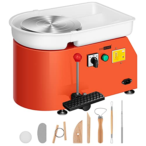 VIVOHOME 25CM Pottery Wheel Forming Machine 350W Electric DIY Clay Tool with...